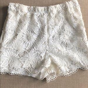 Beautiful white lace shorts